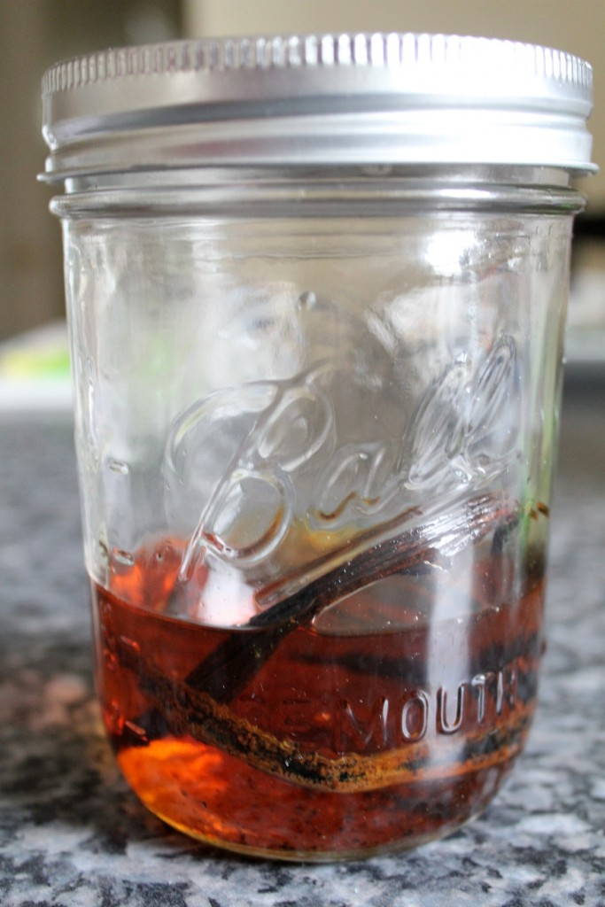 Vanilla extract with rum
