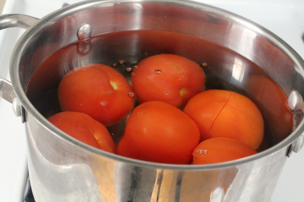 Boil tomatoes