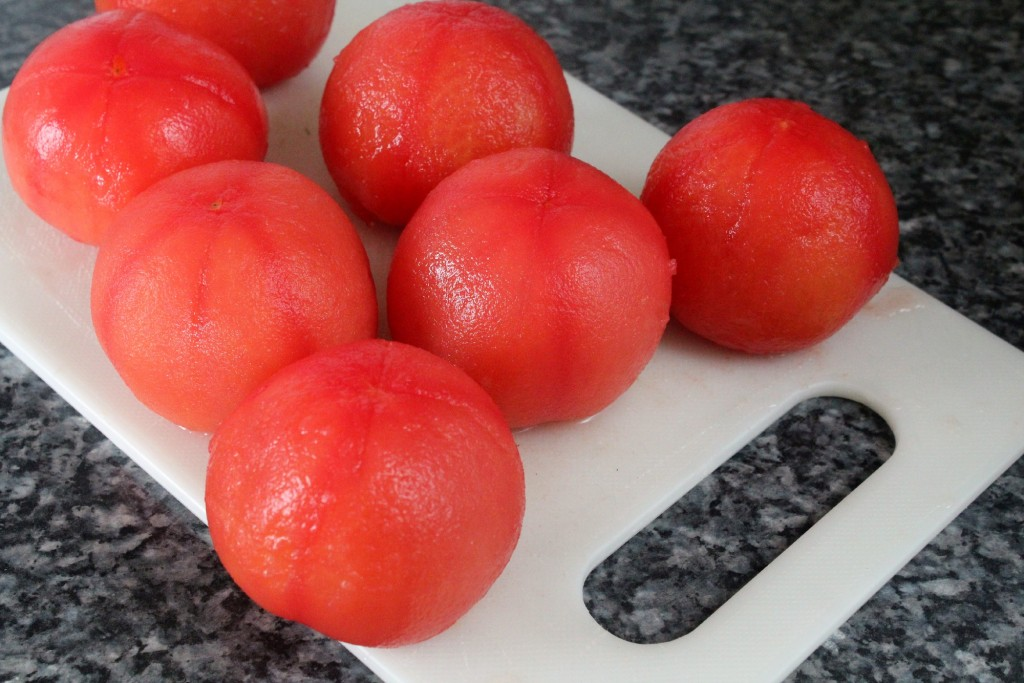 Tomatoes without skin