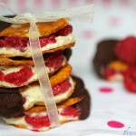 Chocolate dipped vanilla bean and cinnamon toast pretzel crisp sandwiches 2
