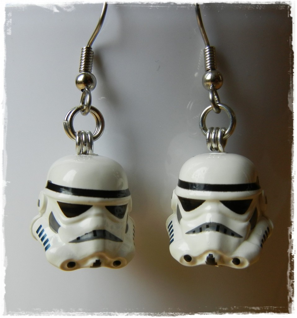 Storm Trooper LEGO earrings
