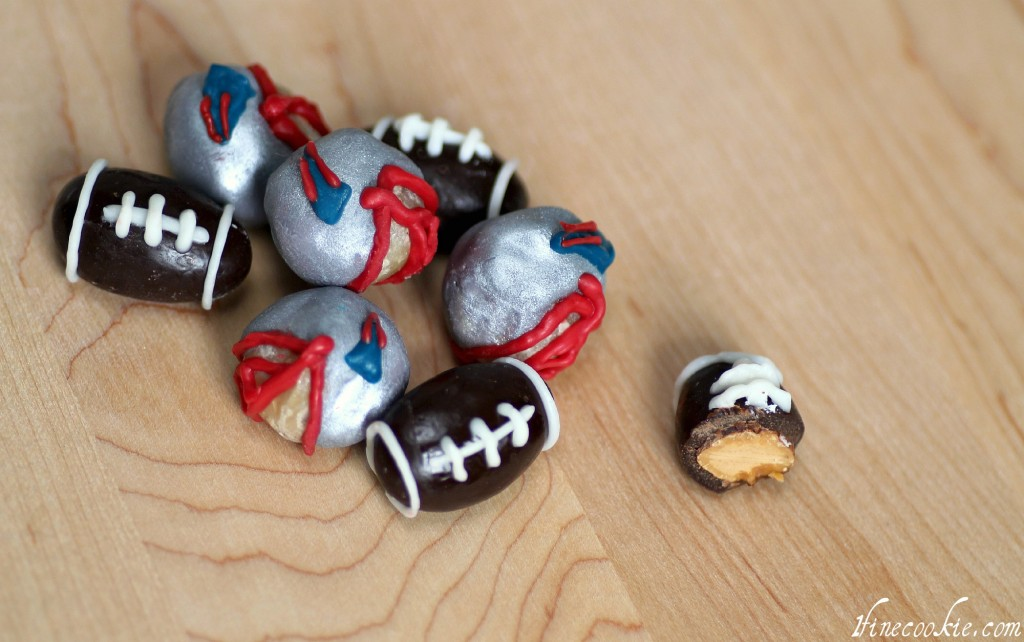 Chocolate Covered Football Nuts almond macadamia