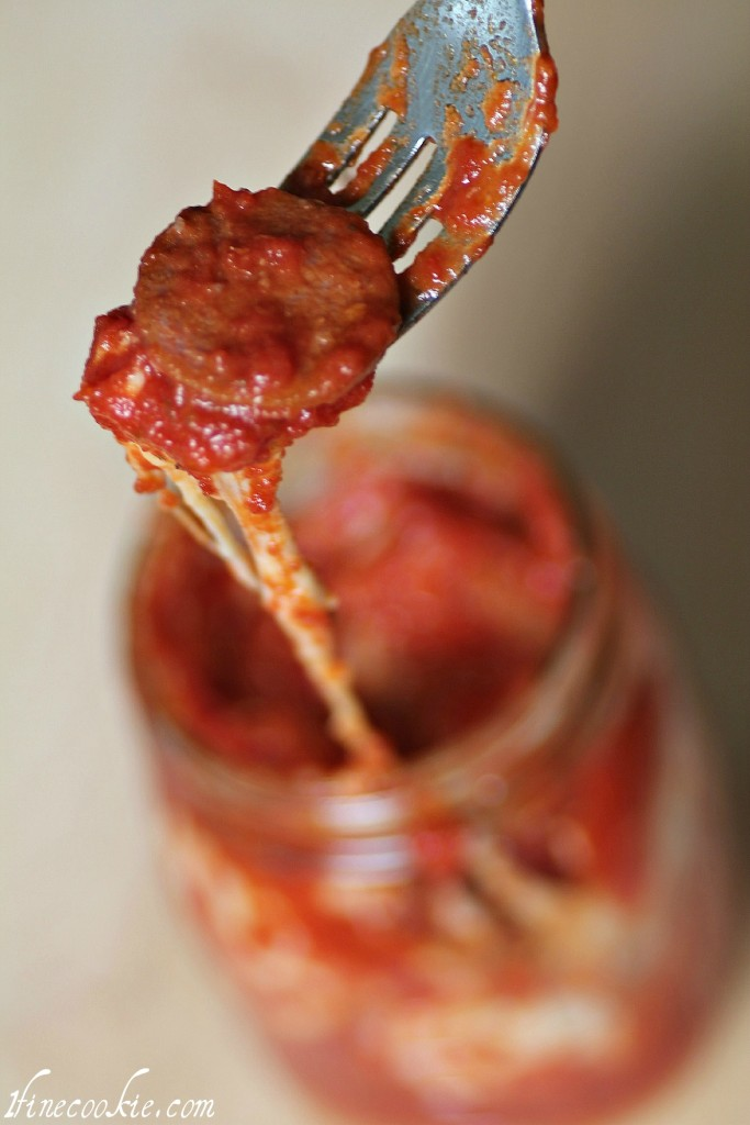eat your pizza in a jar
