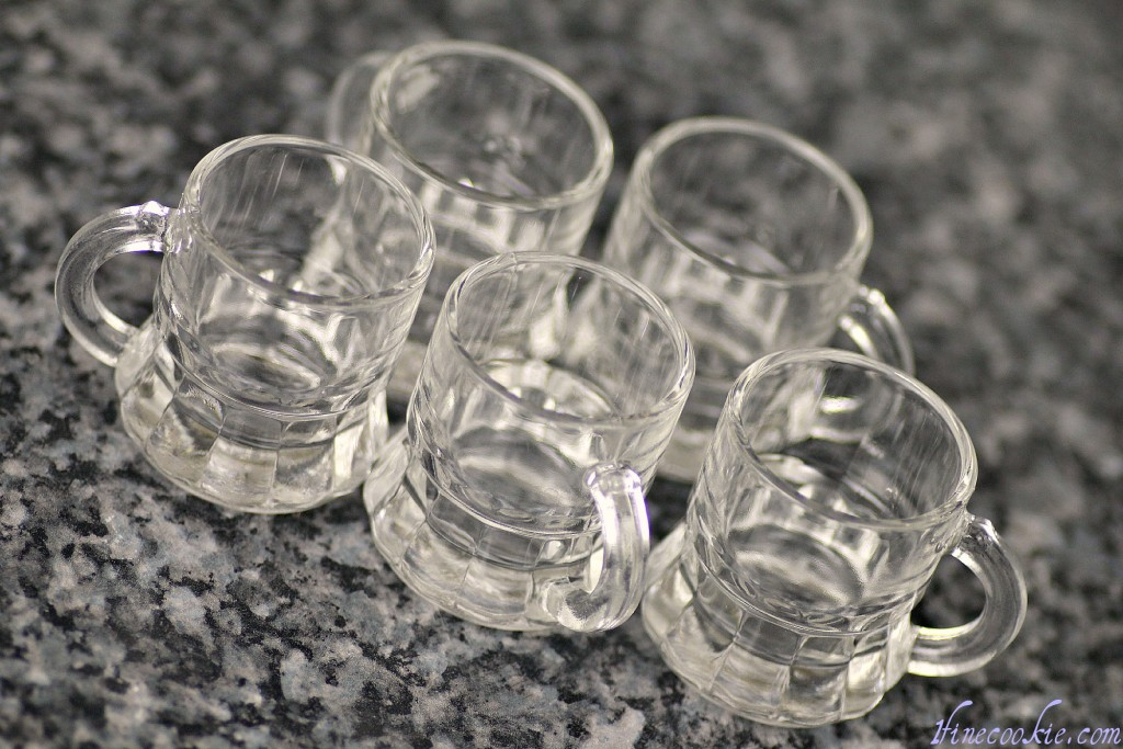 Tiny beer mug shot glasses