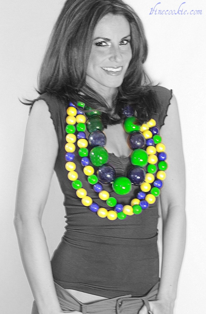 edible beaded necklace mardi gras bubble gum