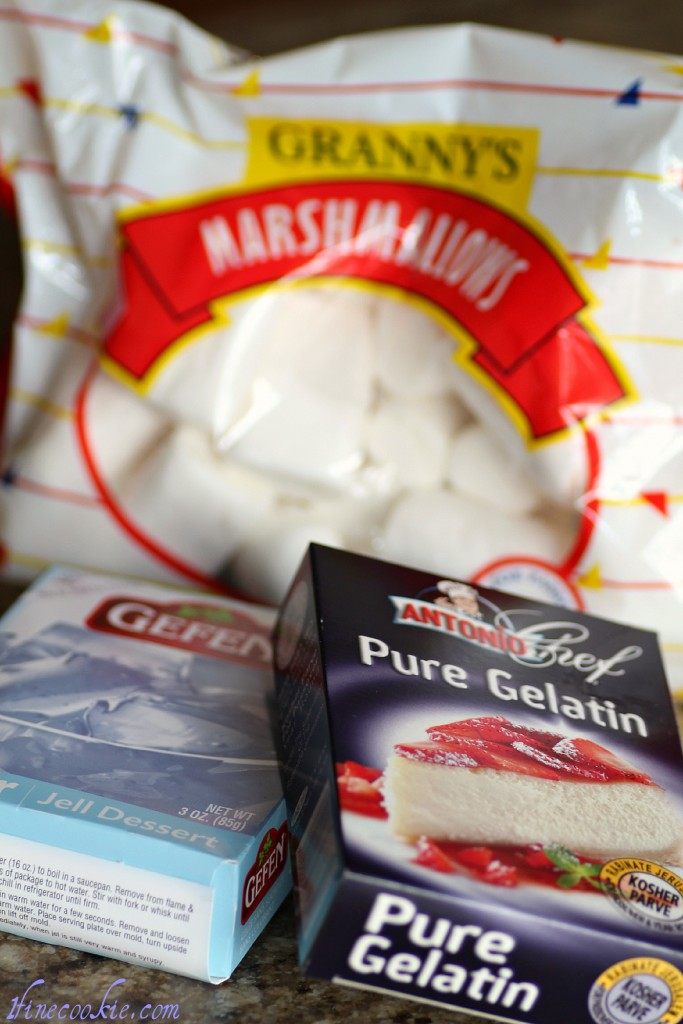 Kosher gelatin, or kosher marshmallows