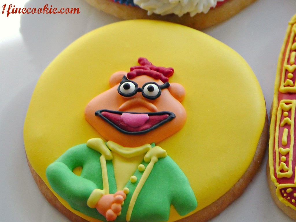 The Swedish Chef Muppet Cookie by 1 Fine Cookie the muppet show stage opening scene statler and waldorf scooter miss ms piggy lindsay what not kermit honeydew beaker gonzo chicken fozzie the bear animal