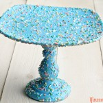 DIY Sprinkle Cake Stand by 1 Fine Cookie
