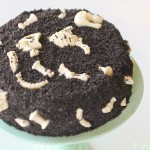 Fossil Cake by 1 Fine Cookie, chocolate fossils, chocolate bones, bake in cake, shapes in cake, mint, fossil mold, fossil ice tray, geek, cake, cookies and cream, cookies and cream cake, oreo, oreo cake, brownie cake, whipped cream, cake convention, austin, chocolate mold,