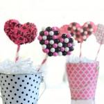 Pretzel Hearts by 1 Fine Cookie candy, valentine&#039;s day, recipes, desserts, pink, black, white, sprinkles, craft, diy, food, love, hearts,