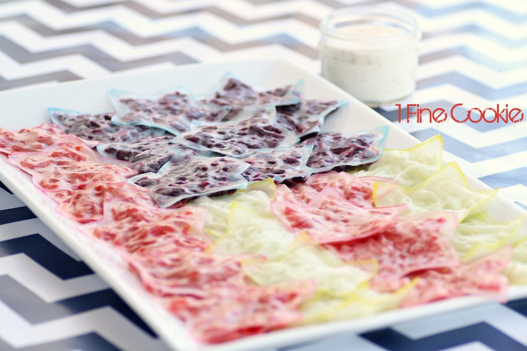 Rice Paper Veggie Roll Pack Recipe by 1 Fine Cookie, independence day, red, white, blue, flag, food, kids, fourth, july, of, vegan, vegetarian, healthy, appetizers, star, shaped, star-shaped, stripes, fun, party, apps, children,