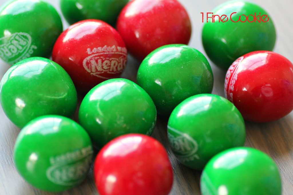 Gumballs by 1 Fine Cookie, Hungry, Caterpillar, cake, topper, cupcake, piping, frosting, swirl, corkscrew,  gum ball, decoration, how, to, idea, children, child's, kids, birthday, party, sprinkles, tootsie rolls, fondant, candy, green, red, book, literature, kindergarten, reading, theme, school, class, teachers, legs, antlers, easy,