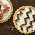 Pink and Maroon Heart Chevron Fig Tart Instructions for KitchenAid by 1 Fine Cookie, tart, crust, fruit, fresh, creamy, cream, filled, butter, crust, recipe, dessert, chevron, graphic, prep