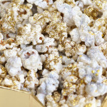 New Year's glamour glitter popcorn recipe by 1 Fine Cookie, disco, dust, edible, glitter, new, years, recipe, ideas, appetizer, healthy, gold, silver, snack, shimmer, bling, resolution, party, food, january, oscars, movie, watching, party, viewing, wedding, salty, kernel, seasons, seasoning,