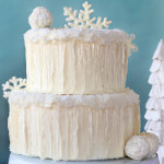 Snowflake Chocolate Cake by 1 Fine Cookie, snow, covered, cake, coconut, icicles, sugar, isomalt, winter, wonderland, white,