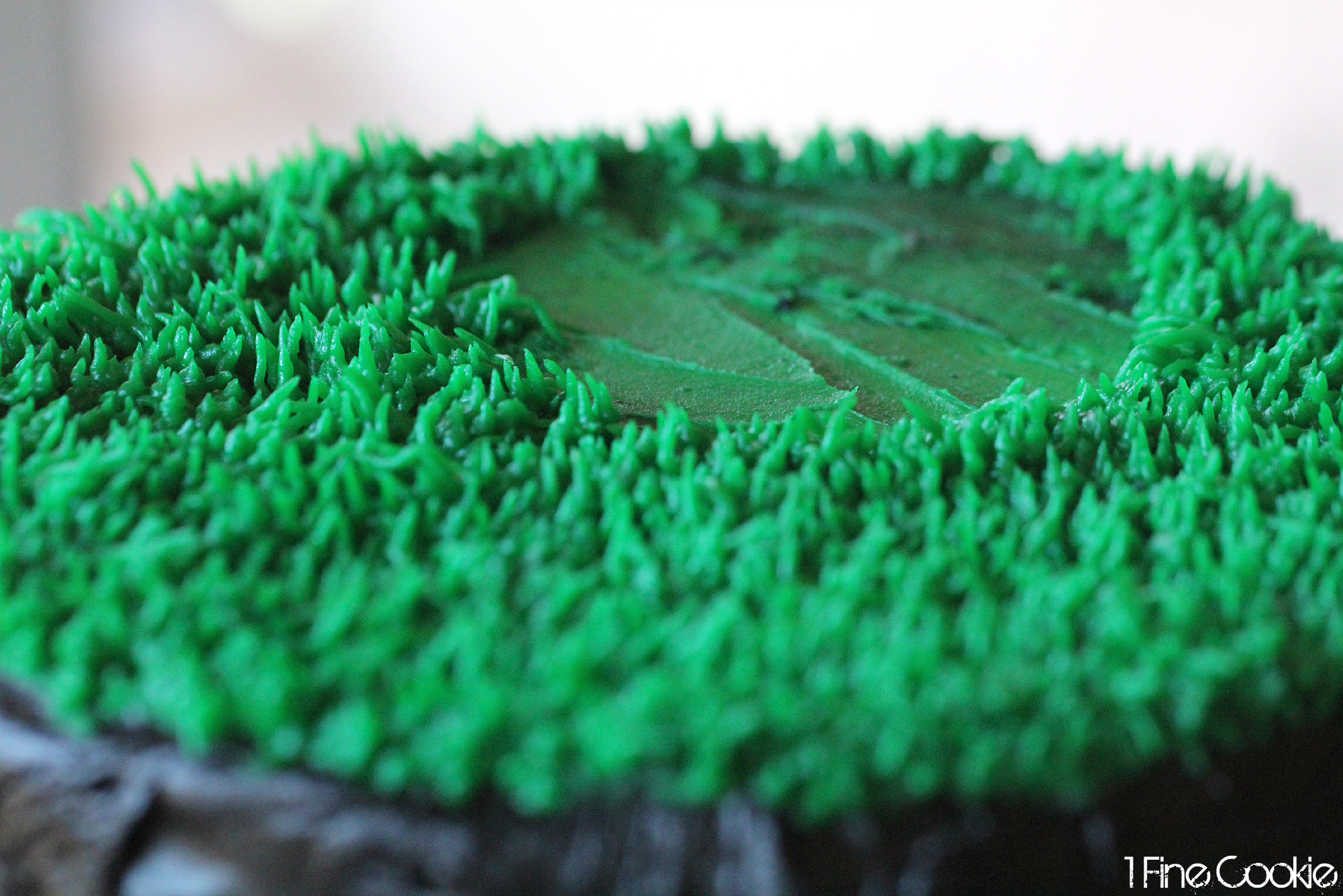 Cake Decorating Tips To Make Grass : Football Play Cake. Also, Tips for Black Frosting - 1 Fine ...