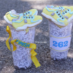 Boston Strong Marathon Sneaker Cookies - 1 Fine Cookie, boston, marathon, strong, cookies, icing, sugar, cut out, april, food, ideas, decorated, tennis, sneaker, running, shoes, ing, new york, bombing, nike, adidas, new balance, reebok, athletic, 26, miles, 5k, sports, soccer, lacrosse, party, d
