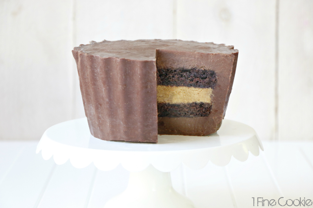 Giant Reese's Peanut Butter Cup Cake, giant, large, peanut, butter, cup, cake, reeses, reese's, hershey's, recipe, hack, william, sonoma, how to make, homemade, easy, silicone, mold, cupcake, chocolate, peanut, butter, filling, ganache, hacks, valentine's, mother's, day, milk, video, guide, peanut butter & company, pb and co, kitchenaid, blender, hand, mixer, stand, food processor, smooth operator, crunch time, cinnamon raisin swirl, cinnamon, raisin, swirl, white, dark, bee's, knees, mighty, paste, bean, rodelle, extract, contest, giveaway, sweepstakes, free, stuff, win, basket, food,