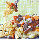 Shepherd's Pie Loaded Fries Recipe for Saint Patrick's day, shepherd's, pie, loaded, topped, french, fries, cheese, melted, irish, saint, st, patrick's, patty's, day, recipe, ideas, thirllist, food, porn, delicious, gravy, poutine, cheddar, melted, alexia, frozen, fries, gravy, beef, stock, how to, make, marinate, marinade, lamb, deconstructed, march, 17,