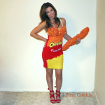 how to, diy, homemade, cheetos, cheeto, food, costume, craft, idea, cute, hot, sexy, foam, fake, snack, women's, woman, female, instructions, tutorial, orange, yellow, halloween, snack, foodie, insulation foam, bag